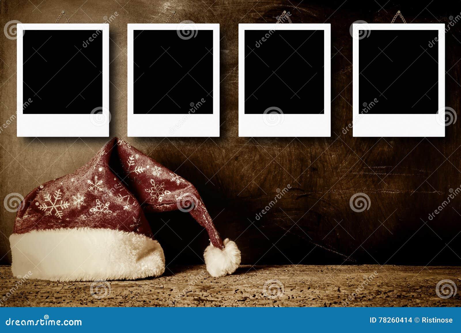 Quadros da foto do Natal para quatro fotos
