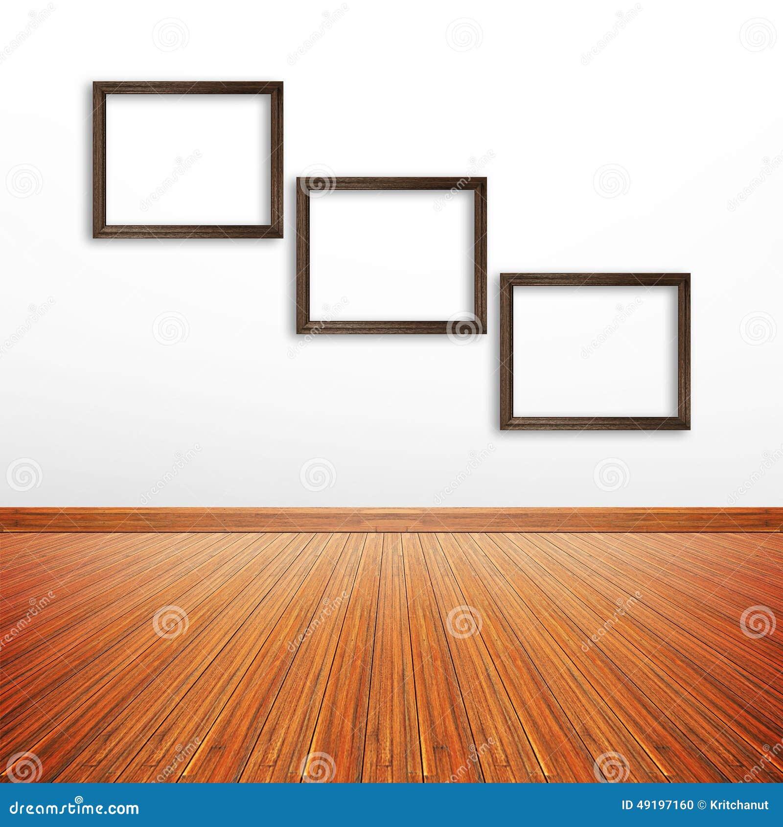 Quadros De Madeira Da Foto Na Parede Branca Dentro Da Sala  -> Quadro De Parede Para Sala