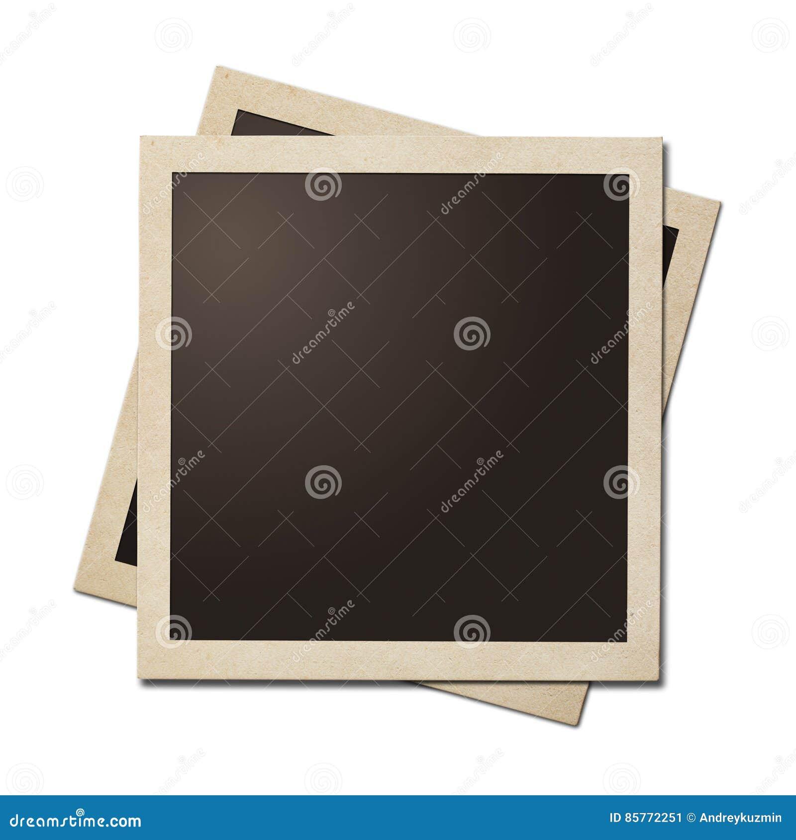 Quadros simples da foto imediata velha isolados O trajeto de grampeamento sem sombras é incluído