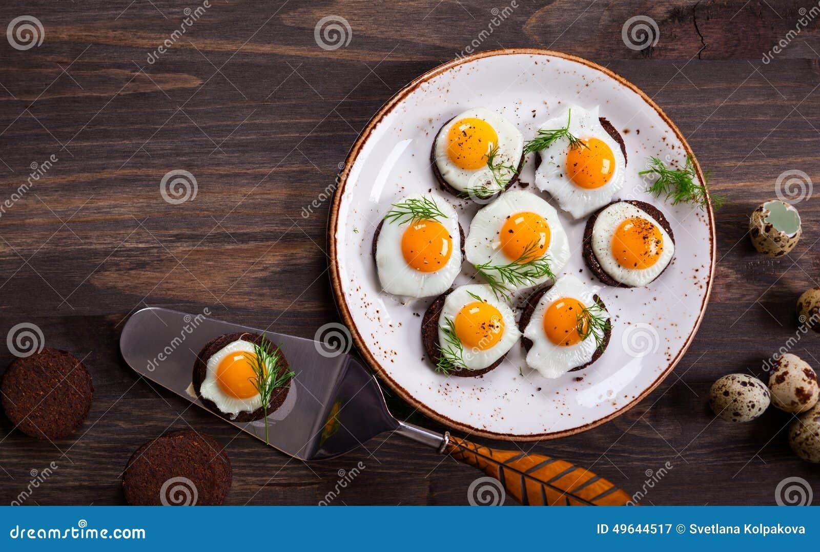 Quail egg canapes stock photo image 49644517 for Quail egg canape