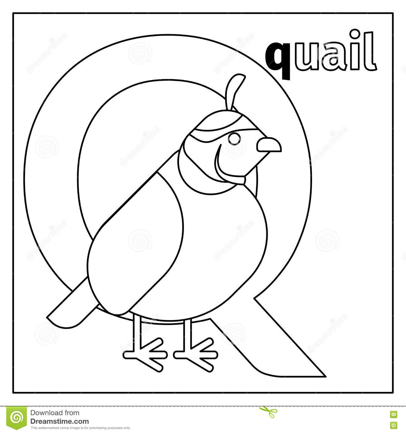 letter a coloring pages quail bird character vector vector cartoondealer 41157
