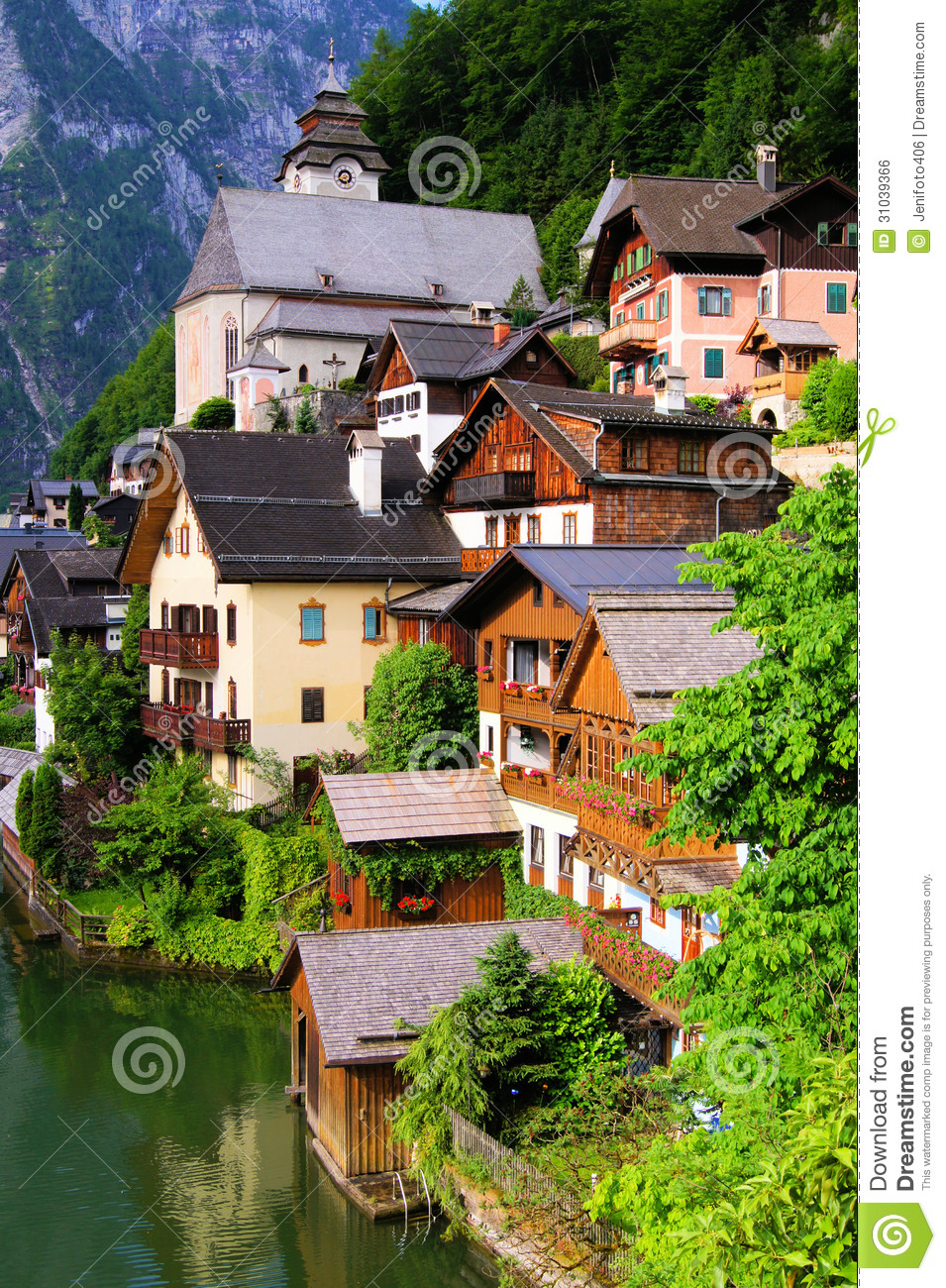 Quaint Austrian Village Royalty Free Stock Image - Image: 31039366