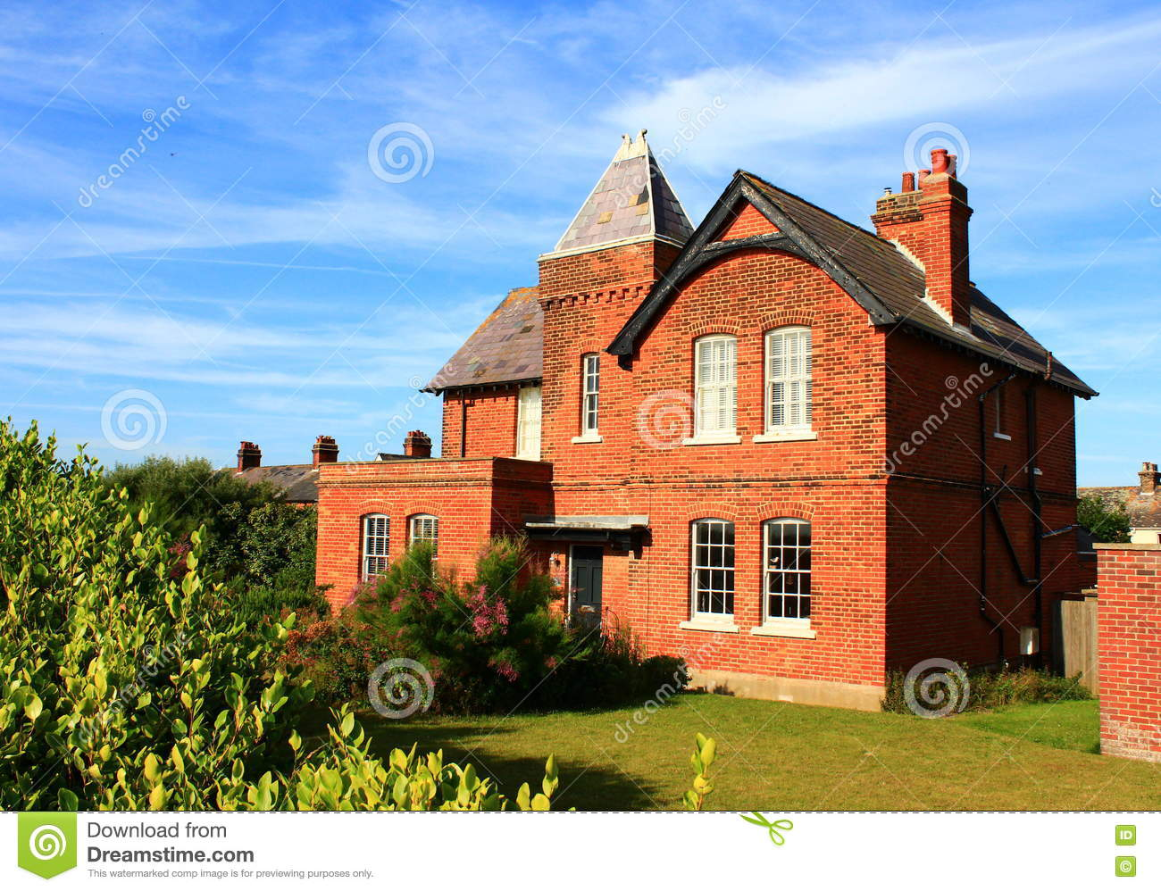 Quaint Country House Kent England Stock Photo Image