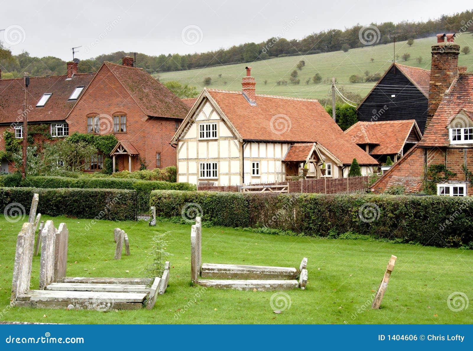 Quaint English Village stock photo. Image of gravestones ... Quaint English Village
