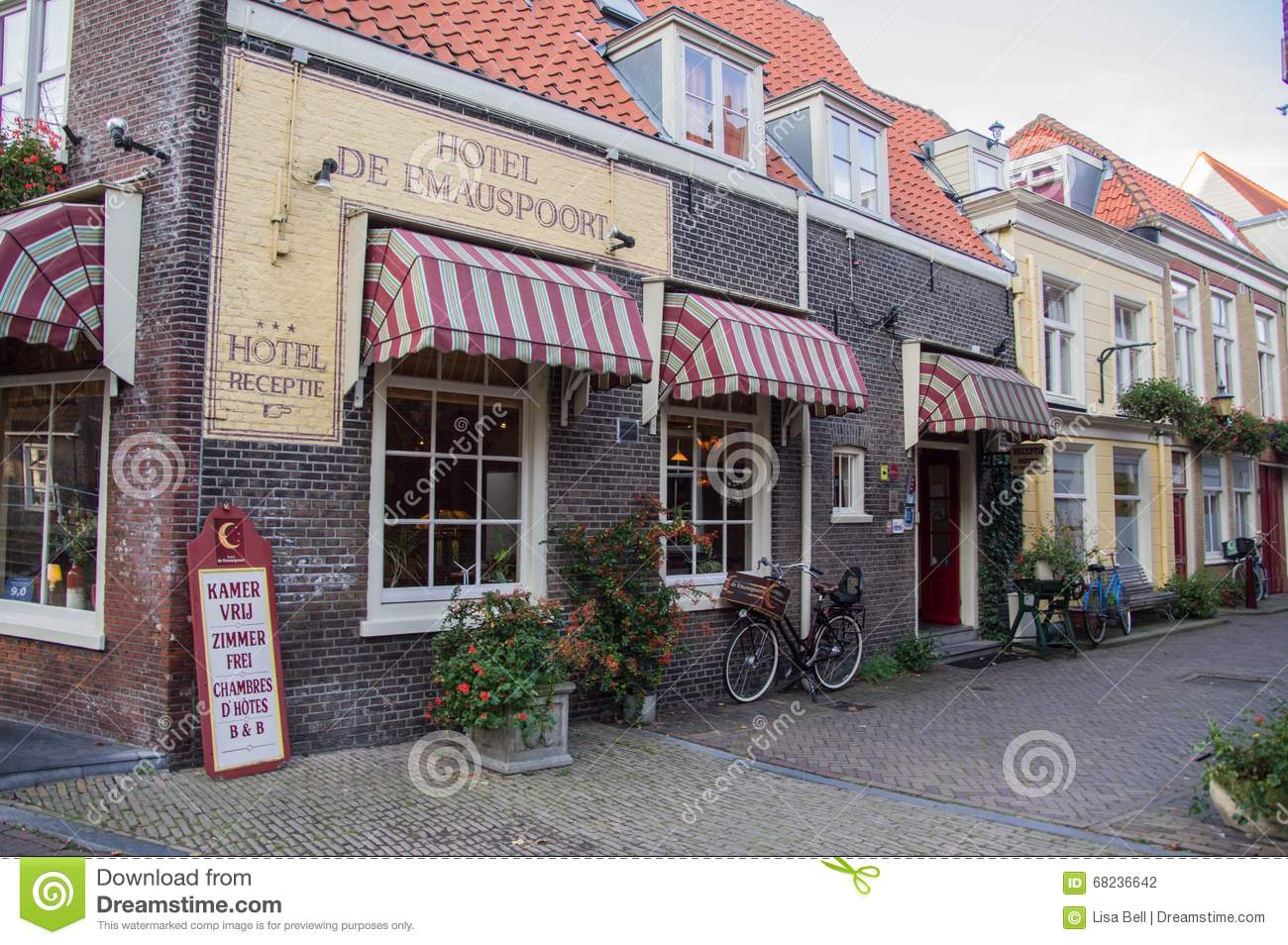 Quaint european shops editorial photography image of town for Quaint hotel