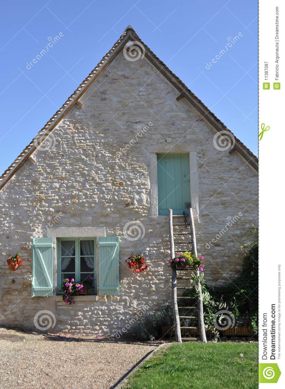 Quaint French House Royalty Free Stock Photography Image