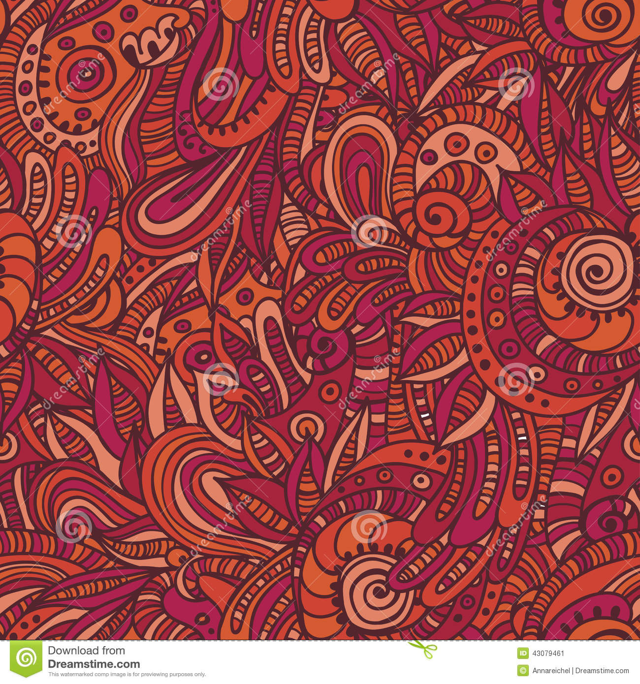 Quaint Indian Seamless Pattern Stock Vector - Image: 43079461