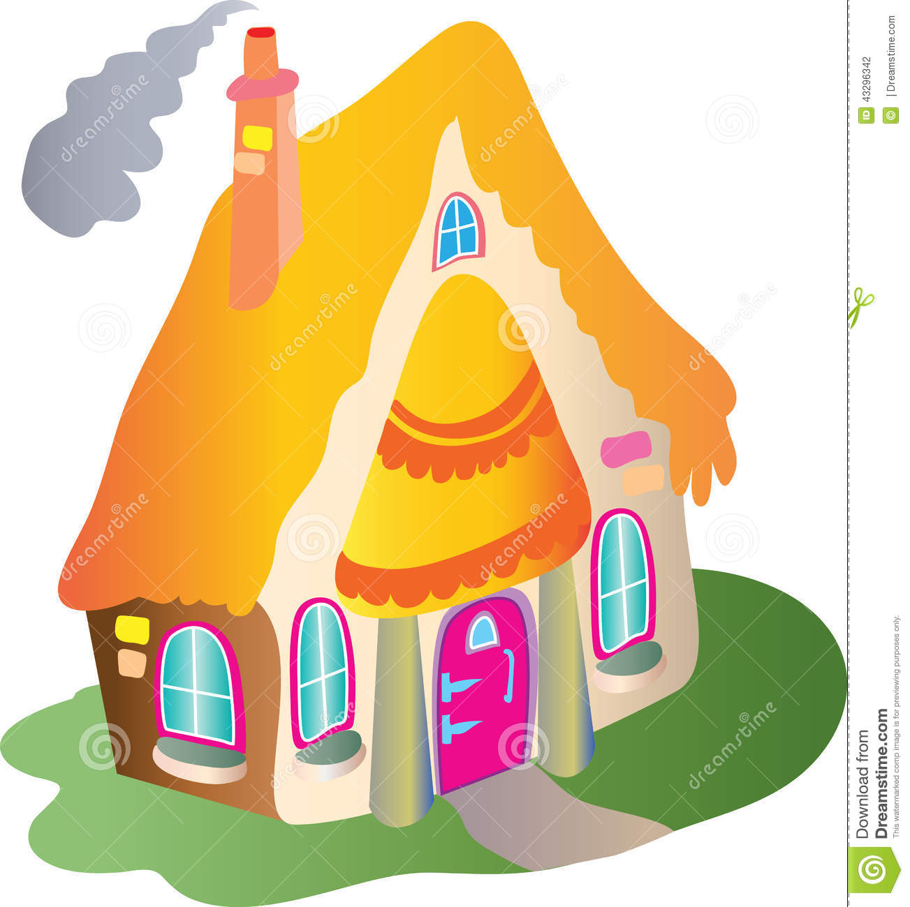 Casita Plans Quaint Thatched Cottage Stock Vector Illustration Of Roof