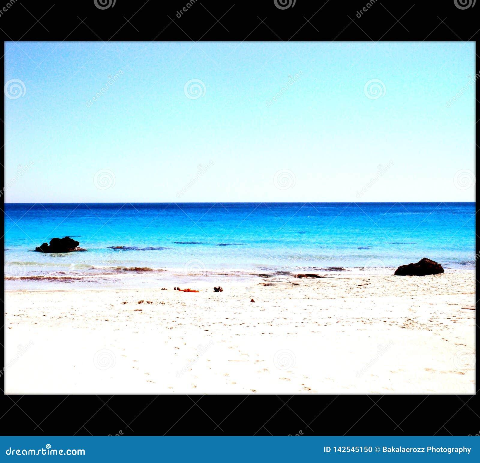 Qualidade fina de surpresa do papel de parede do fundo de greece do chania de Falassarna da praia