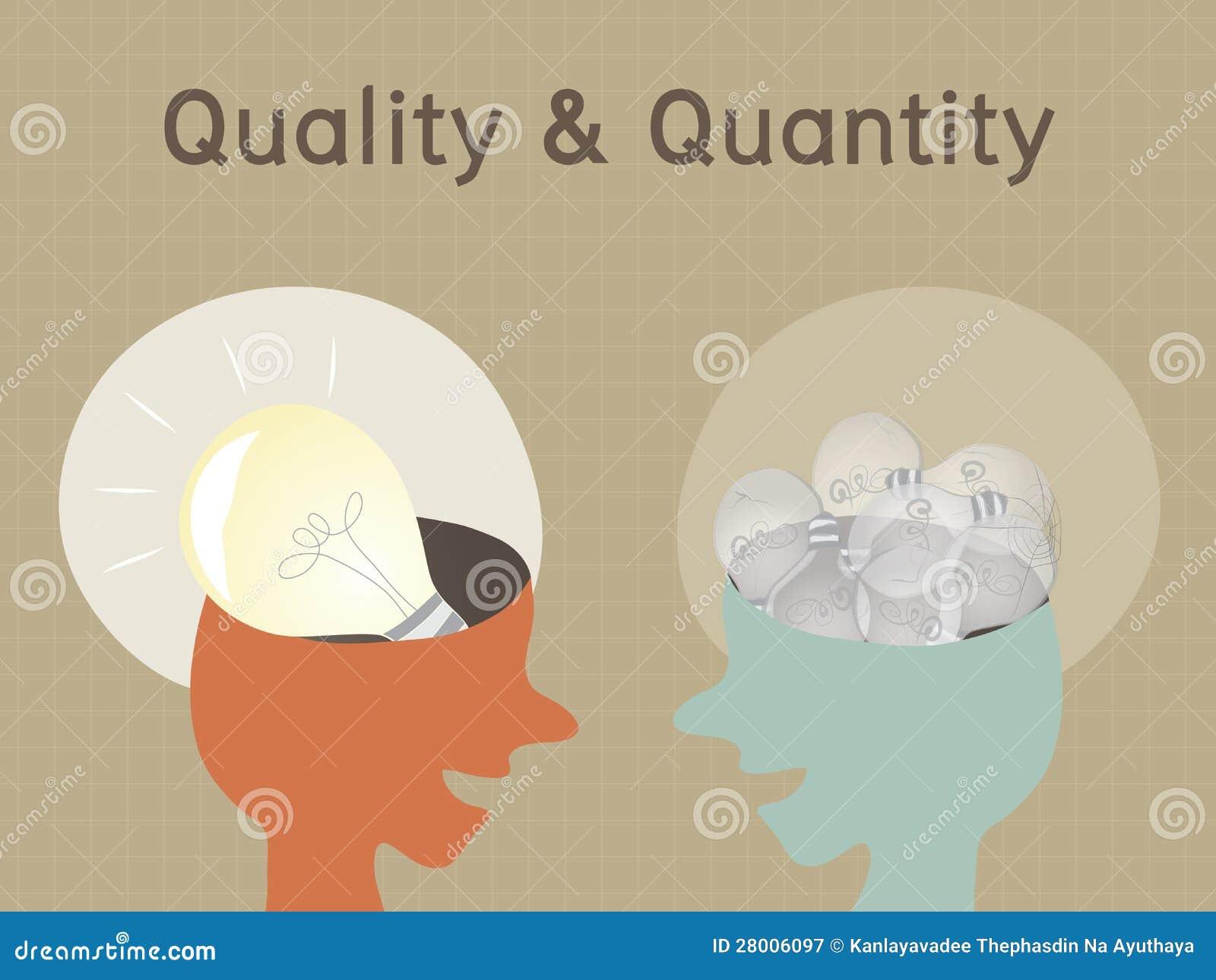 Qualität Quantität