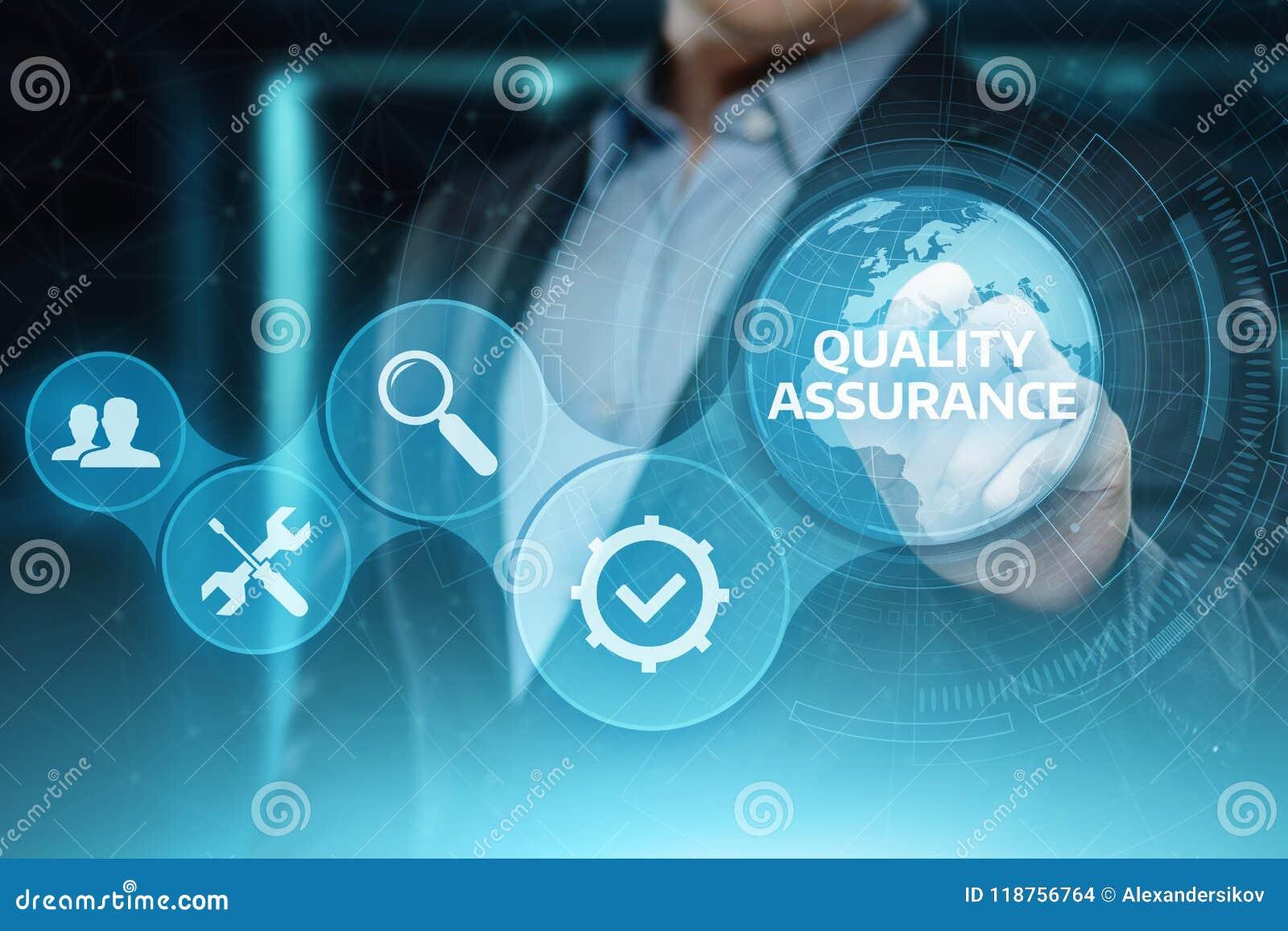 Qualitätssicherungs-Service-Garantie-Standardinternet-Geschäfts-Technologie-Konzept