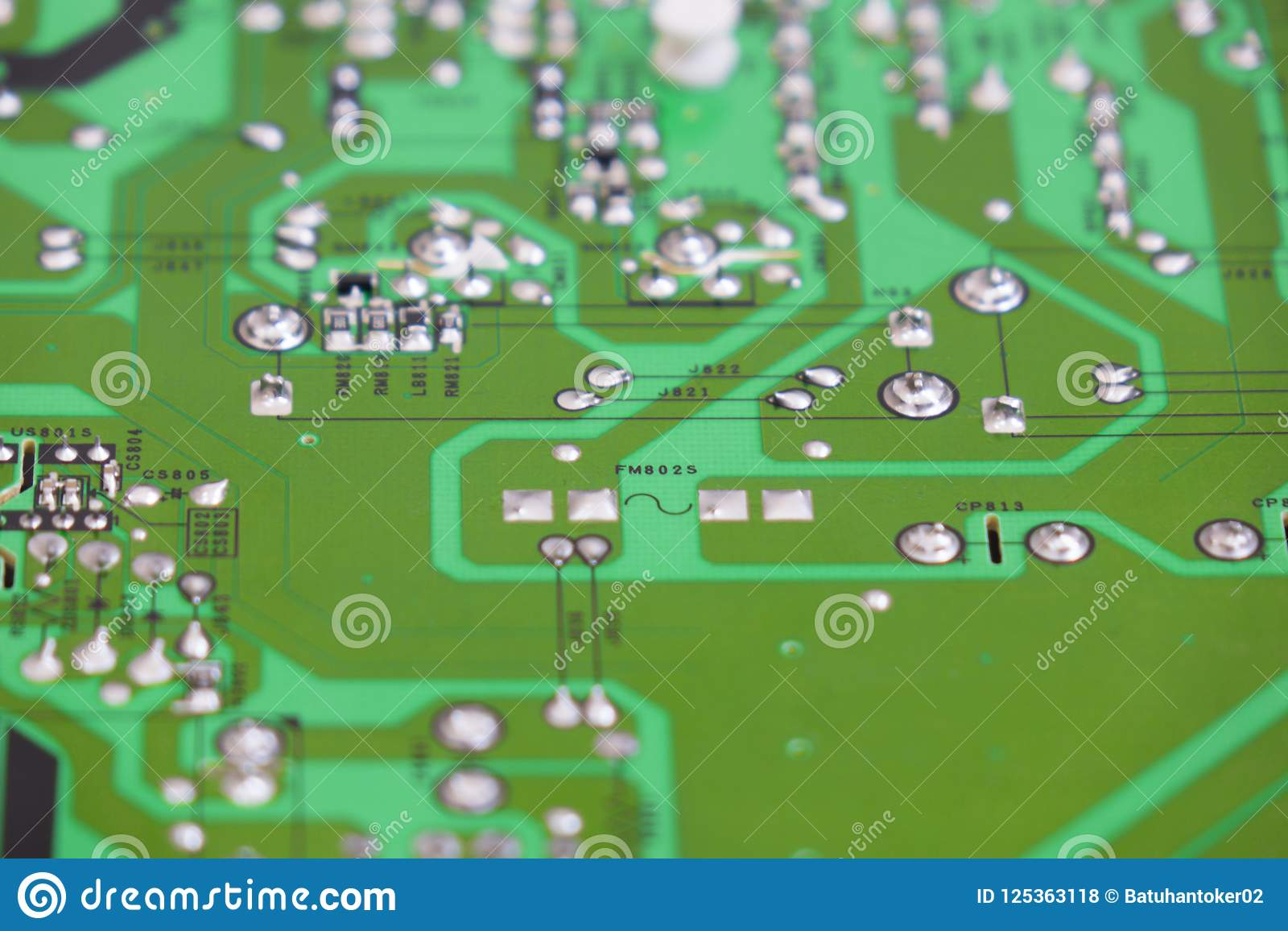 Quality Control And Assembly Of Smt Printed Components On Circuit Board Engineering Download Stock Photo Image