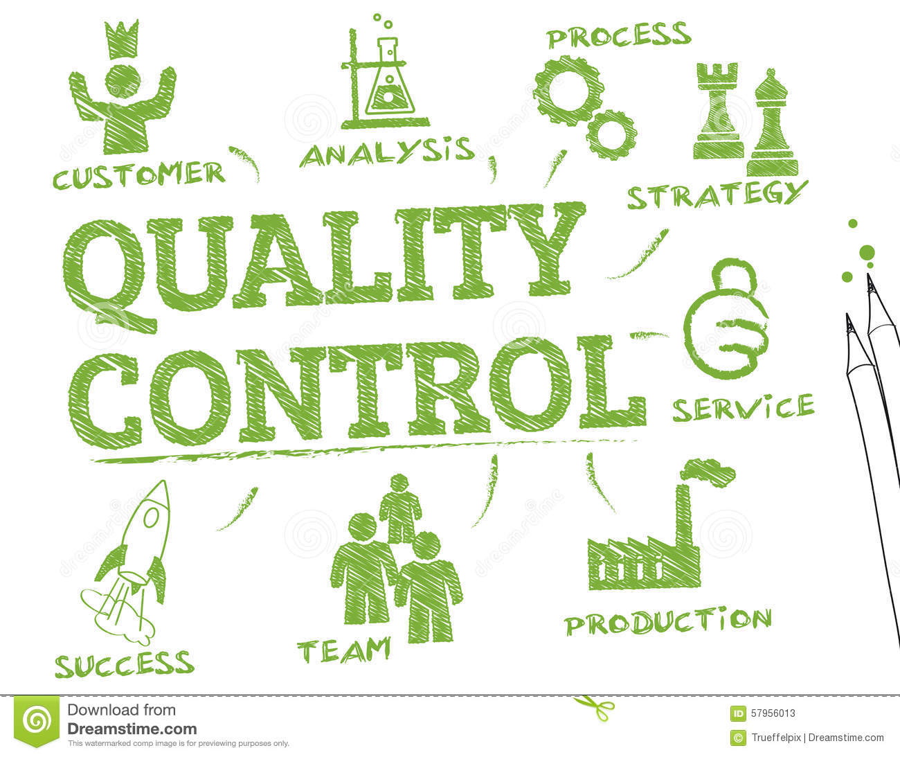 quality control chart stock image image of icon checklist 57956013