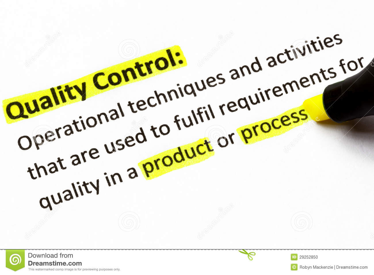 quality control definition stock photo. image of quality - 29252850