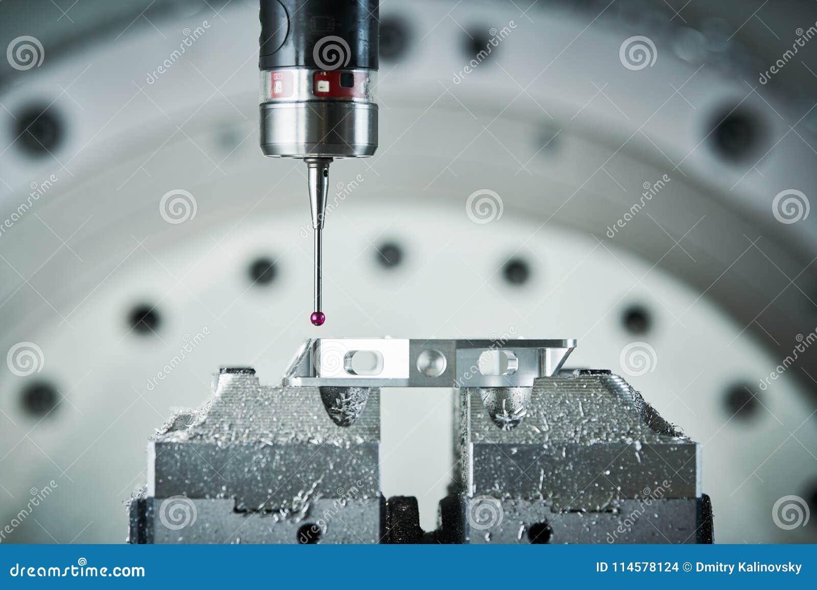 Quality Control On Milling CNC Machine. Precision Probe Sensor At ...