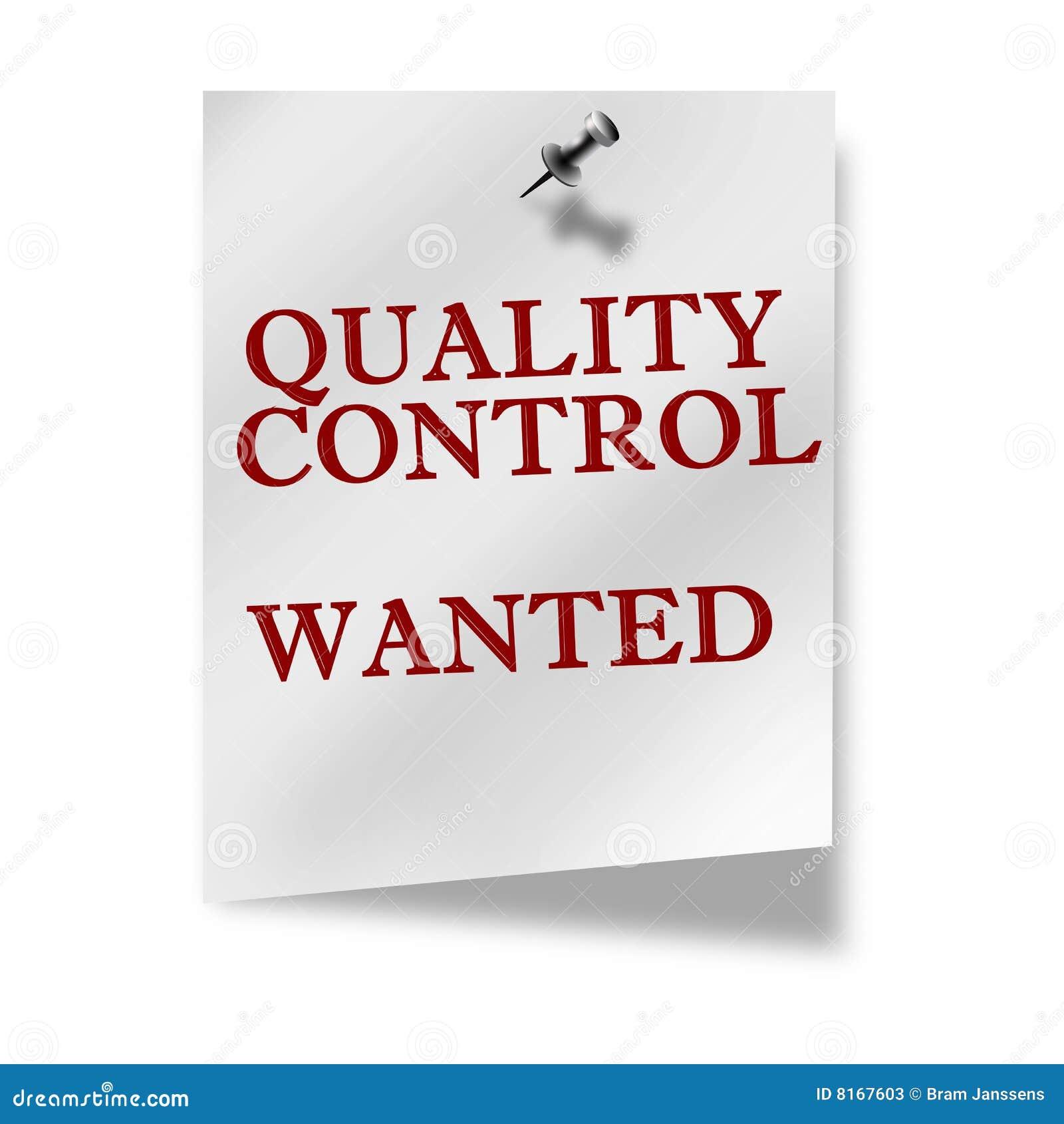 Finance essay on quality control