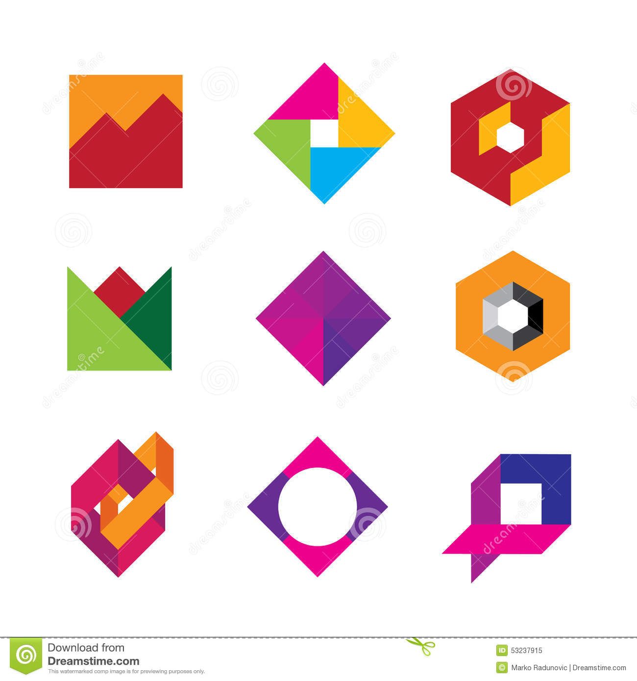 polygon shape abstract design - photo #15