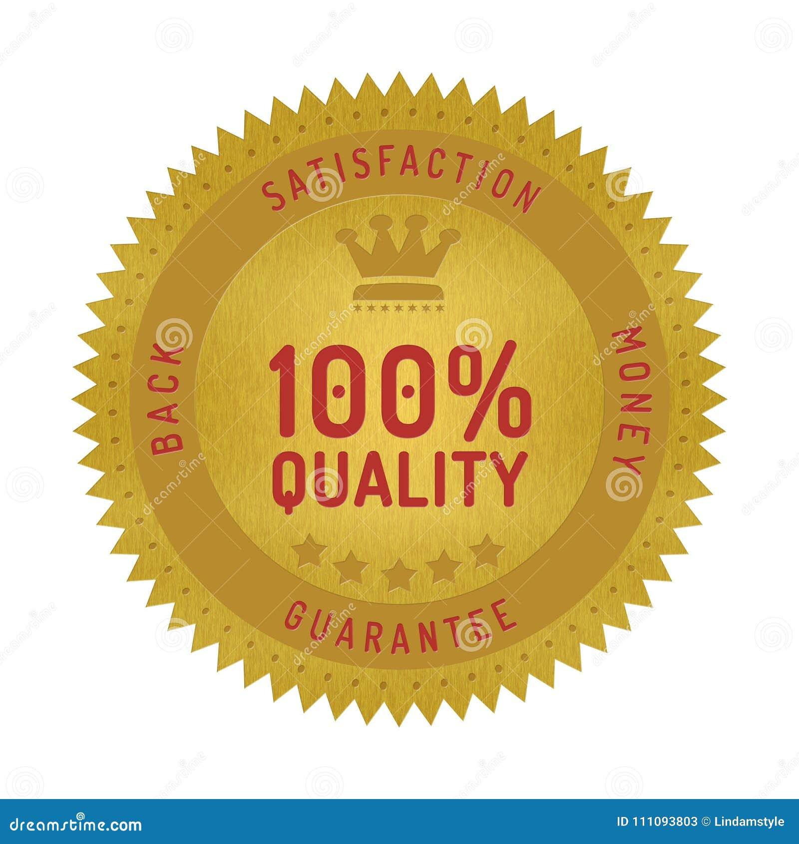 Quality guarantee badge isolated on white