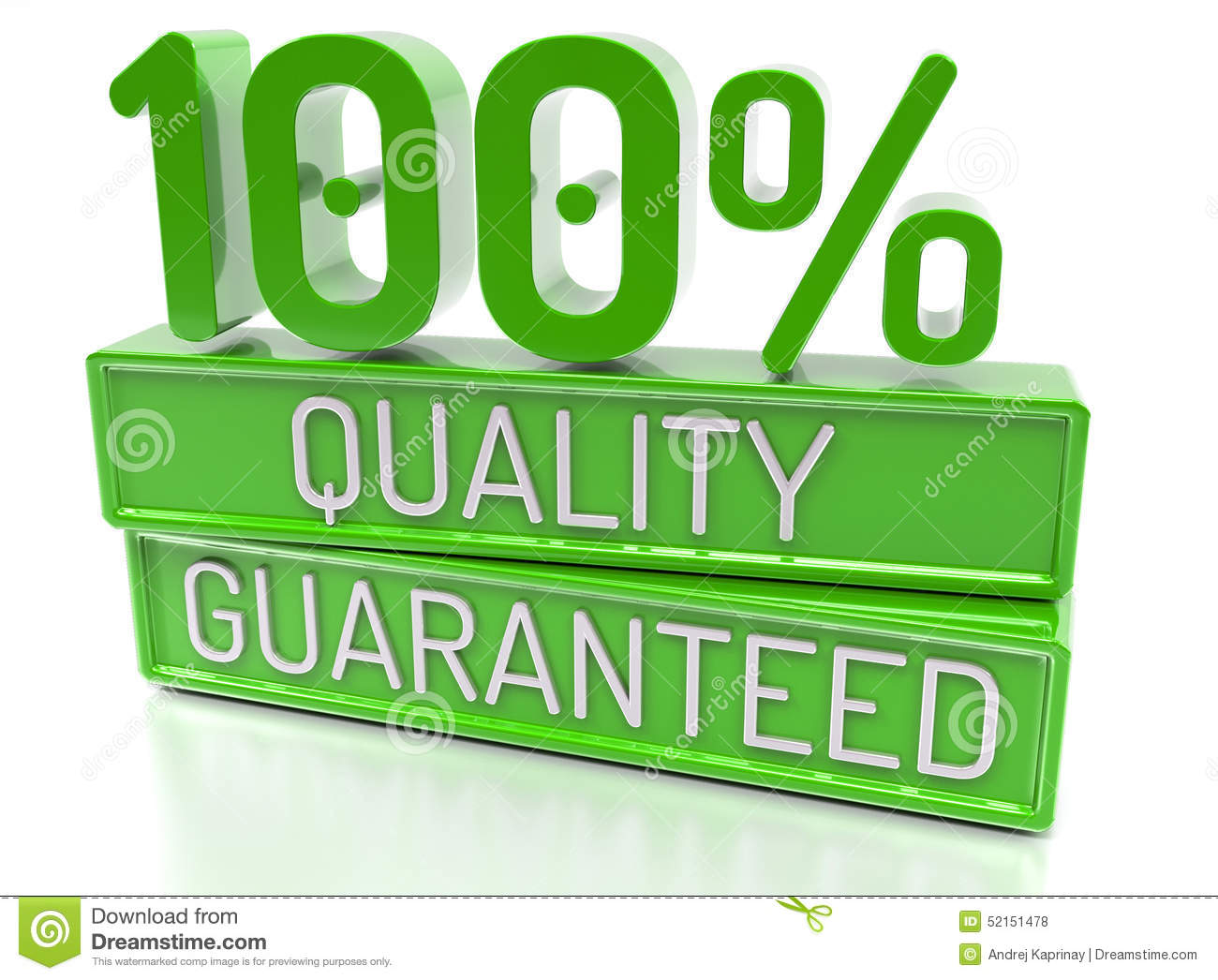 100  Quality Guaranteed, 100 percent, 3d banner - , on w