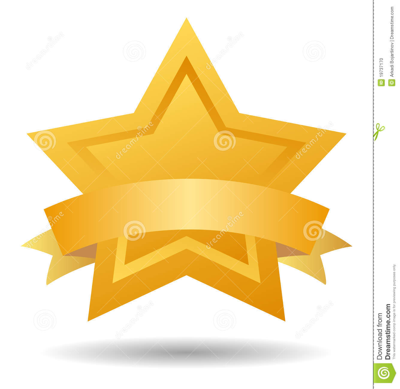 Quality Mark Gold Star Stock Vector. Illustration Of