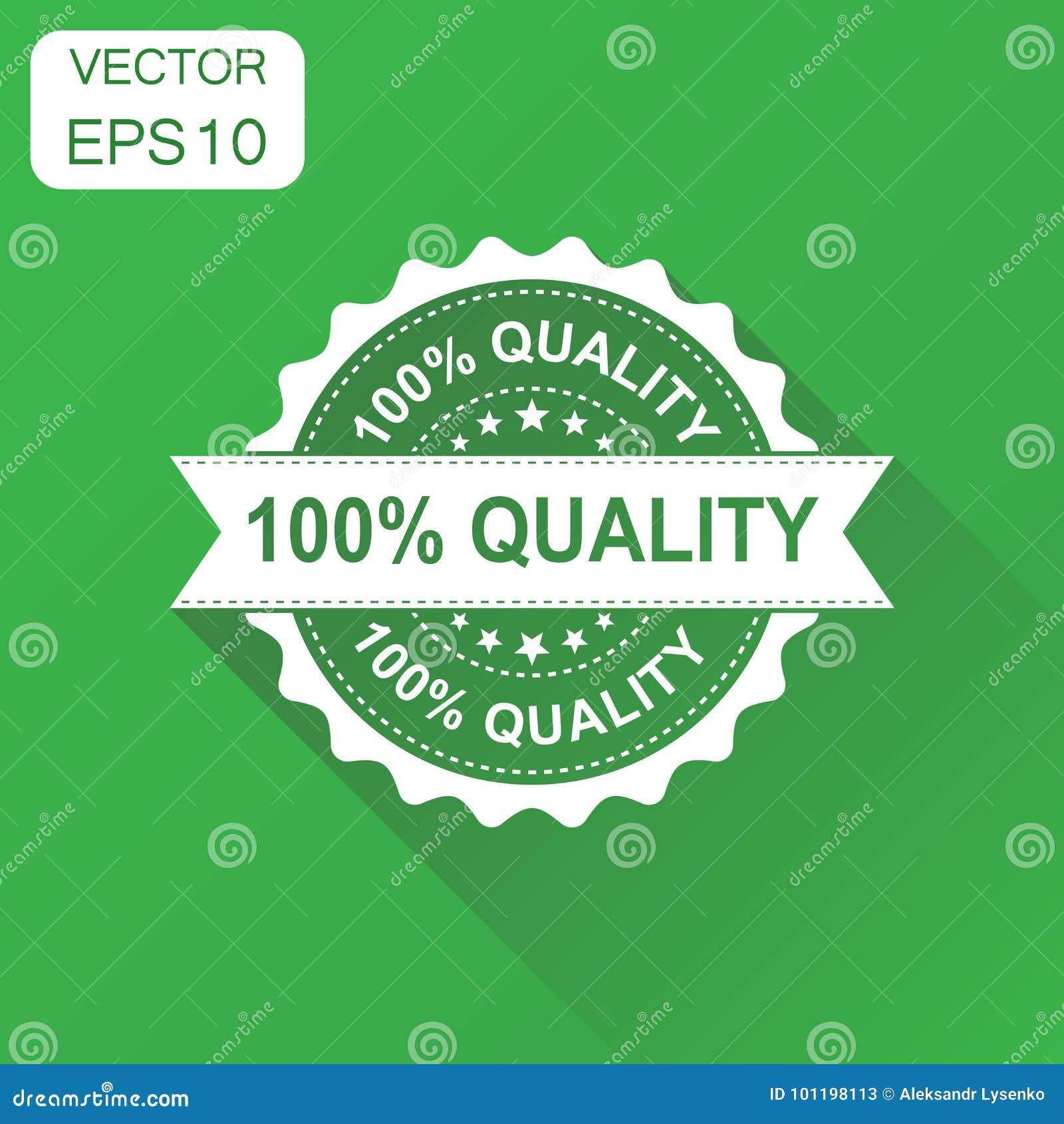 100  quality rubber stamp icon. Business concept 100 percent qua