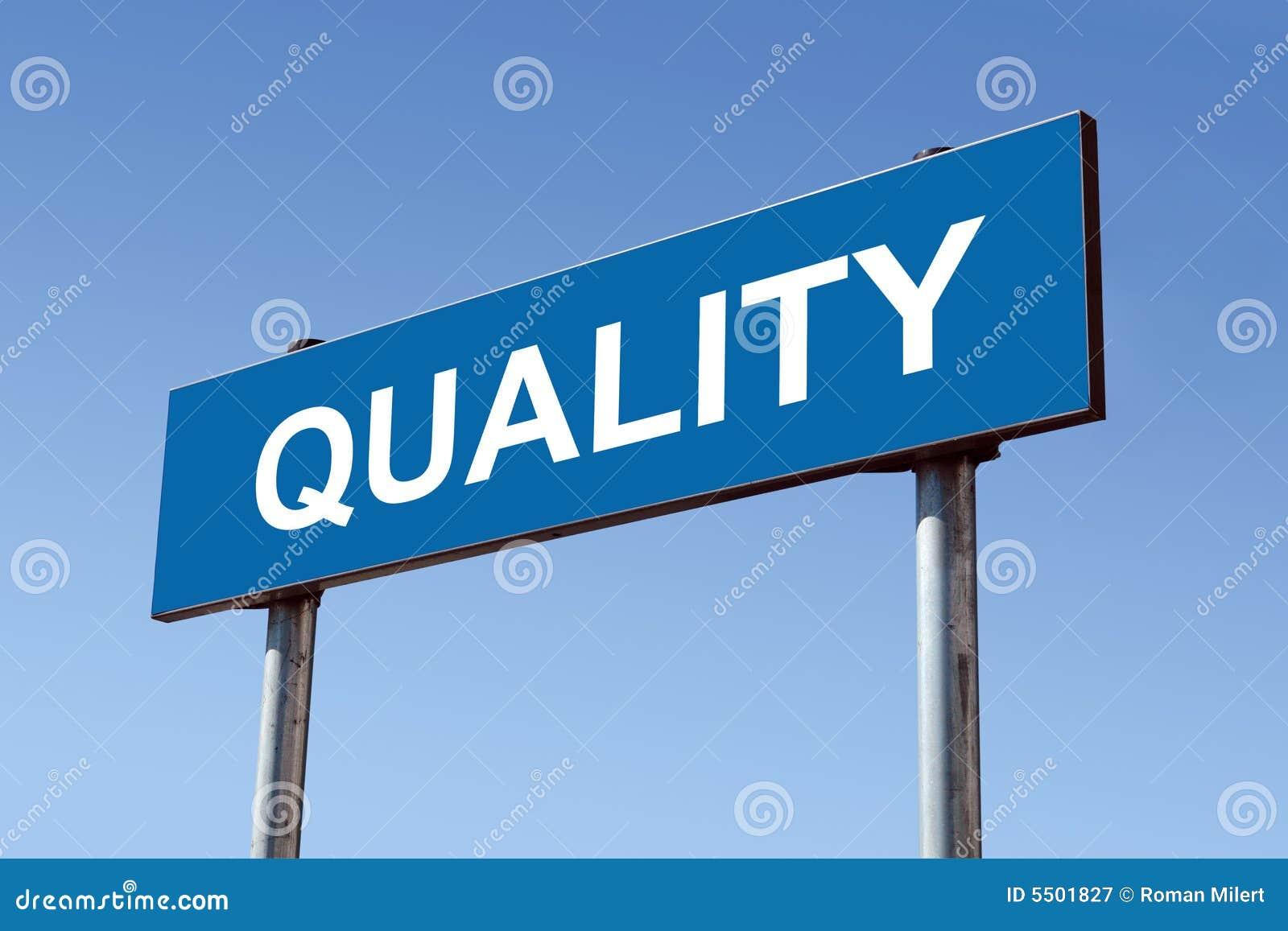 Quality signpost