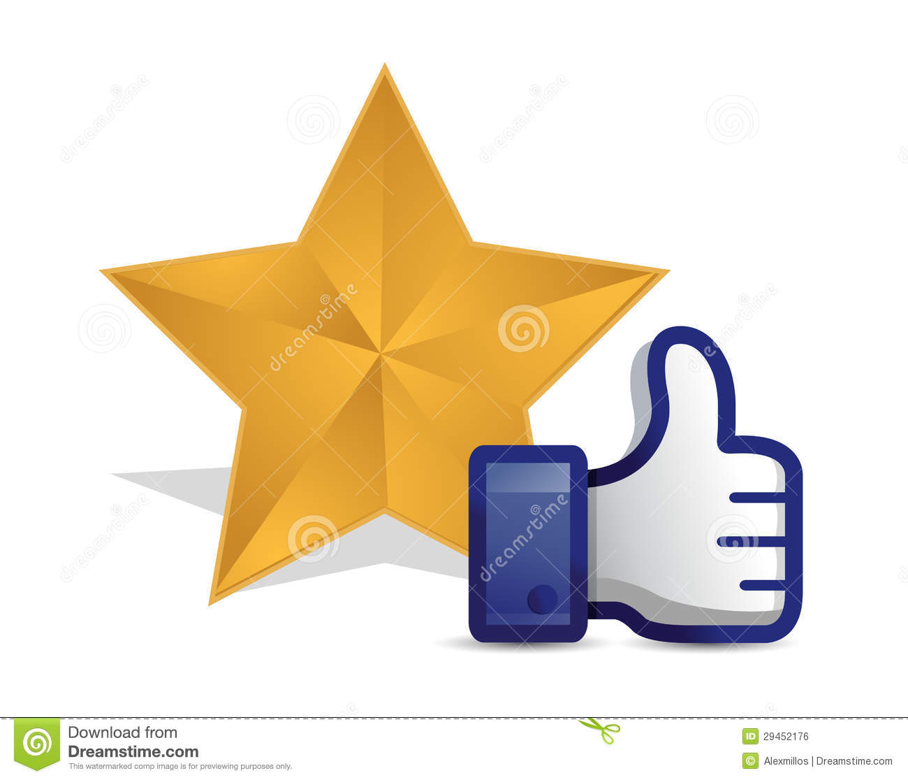 Quality Star Review Thumb Up Stock Illustration
