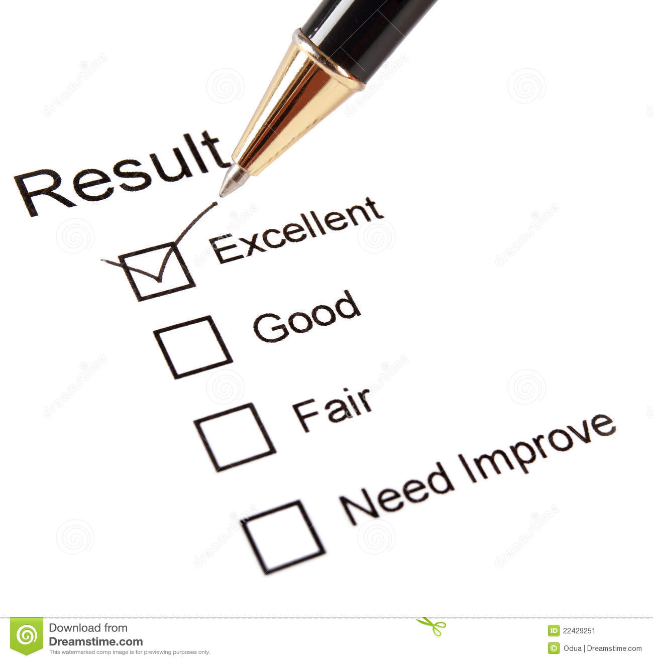 Quality Survey Questionnaire Stock Image - Image: 22429251