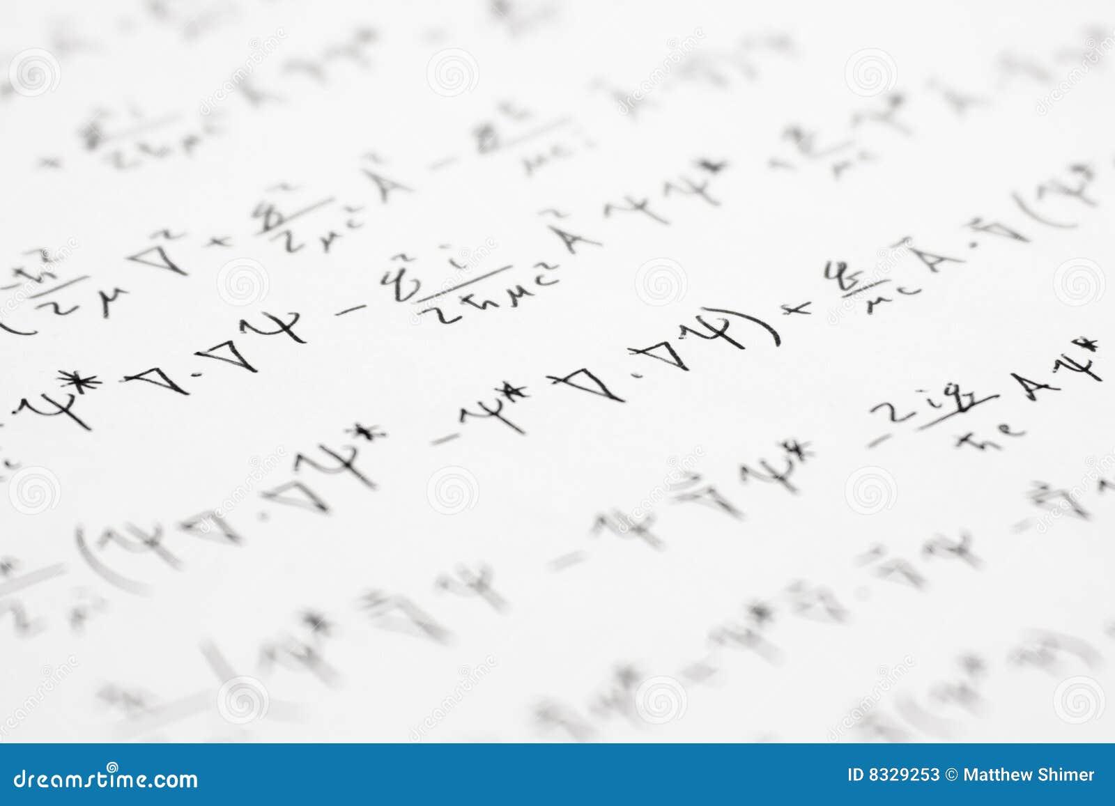 series of physics equations dealing with quantum mechanics.