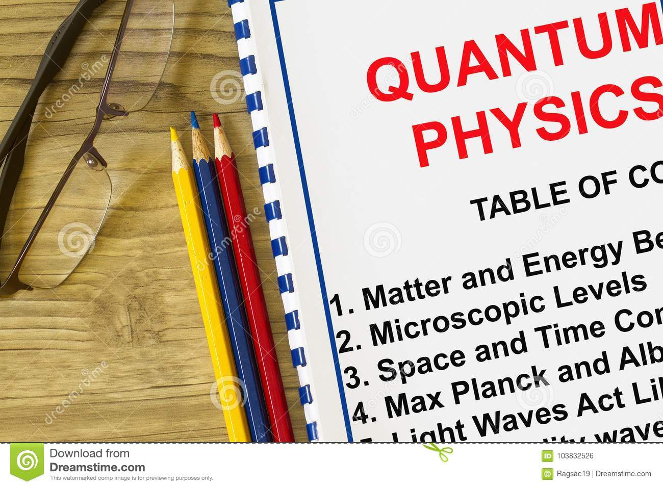 quantum physics definition concept stock photo - image of theory