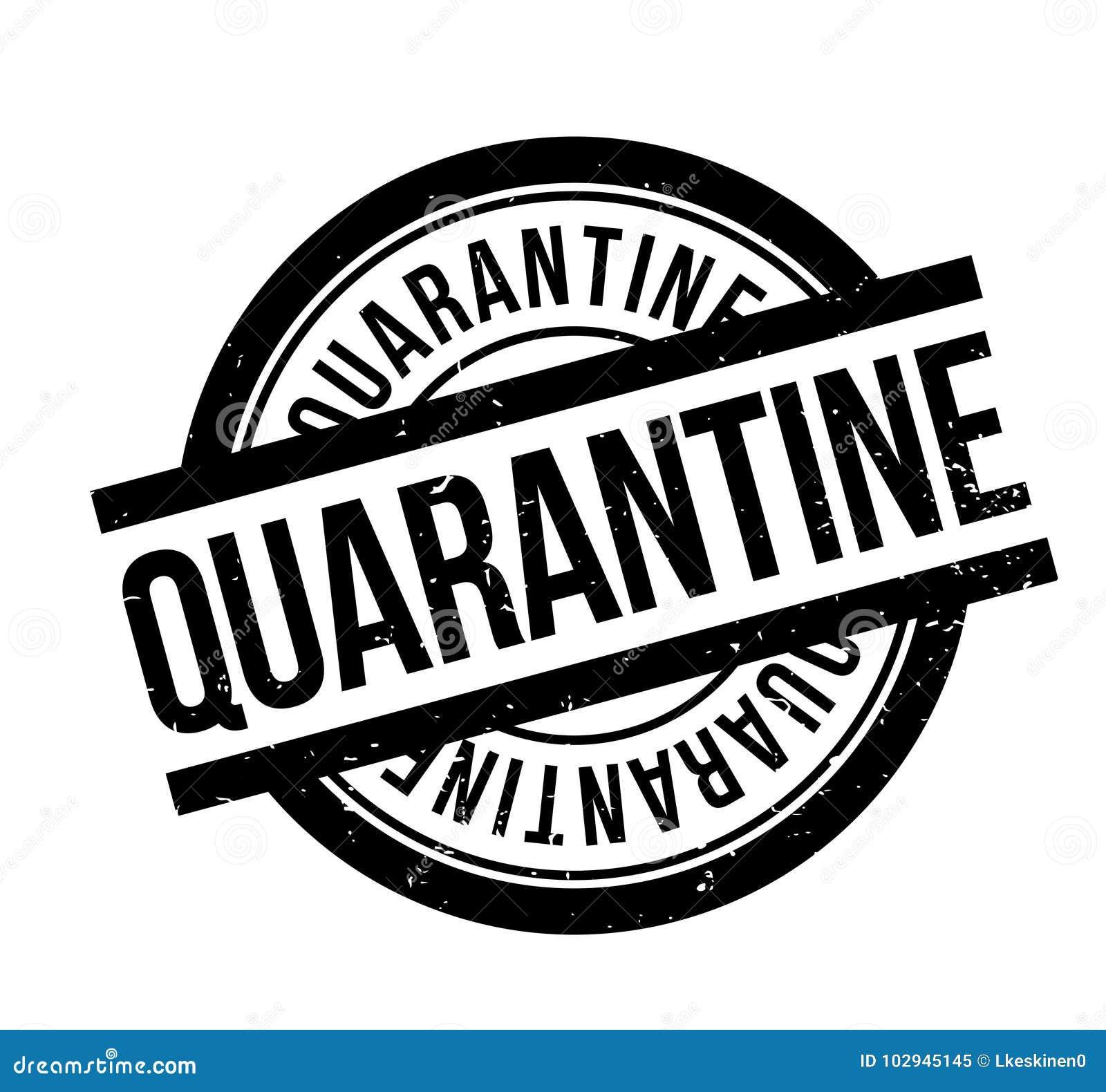 Quarantine Rubber Stamp Stock Vector Illustration Of Customs