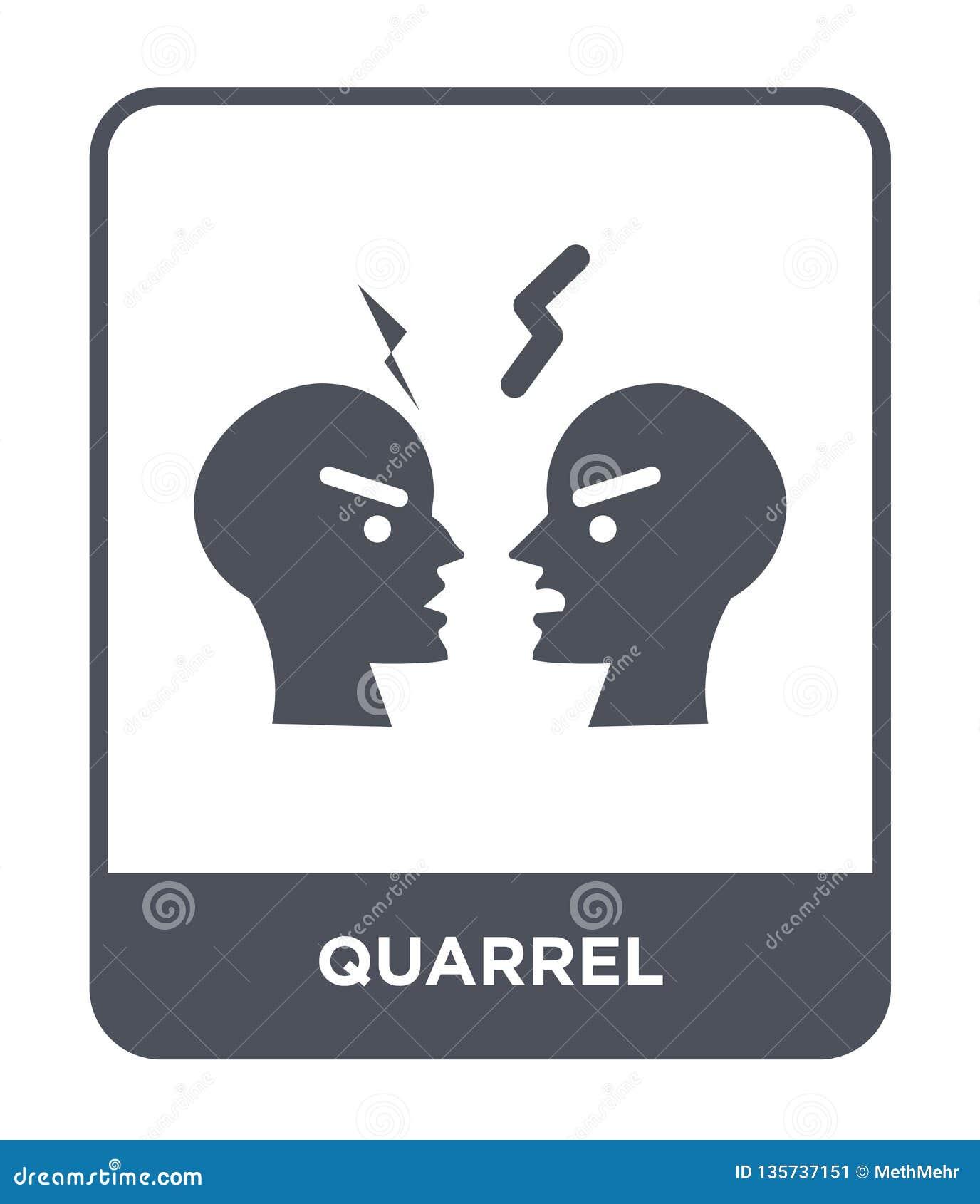 quarrel icon in trendy design style. quarrel icon isolated on white background. quarrel vector icon simple and modern flat symbol
