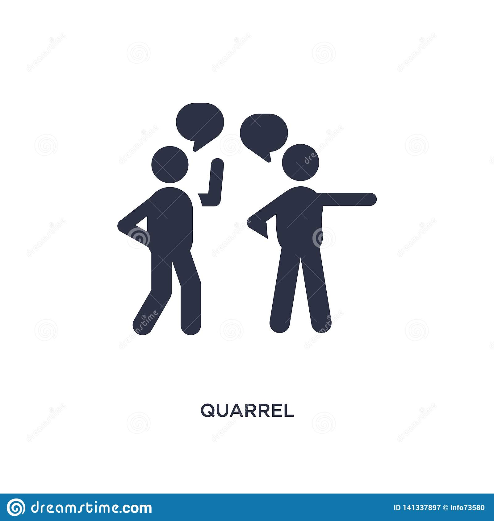 quarrel icon on white background. Simple element illustration from communication concept