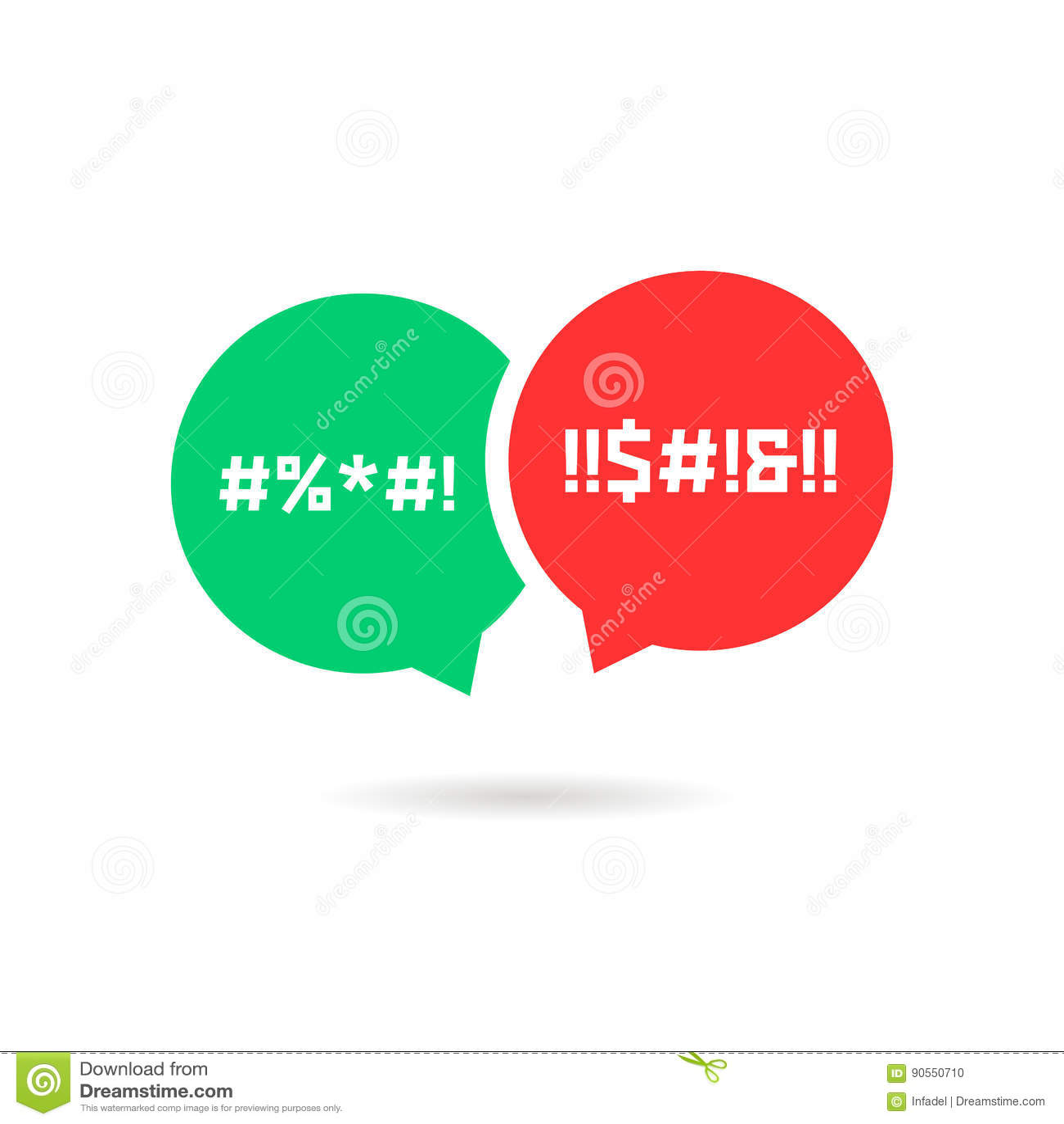 quarrel with speech bubbles stock vector image 90550710 No Parental Advisory Template Tumblr Transparent Parental Advisory
