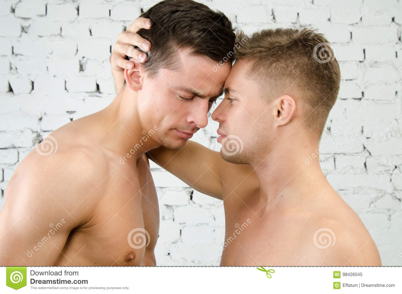 Quarrels and kisses. Love and relationships. Two guys.