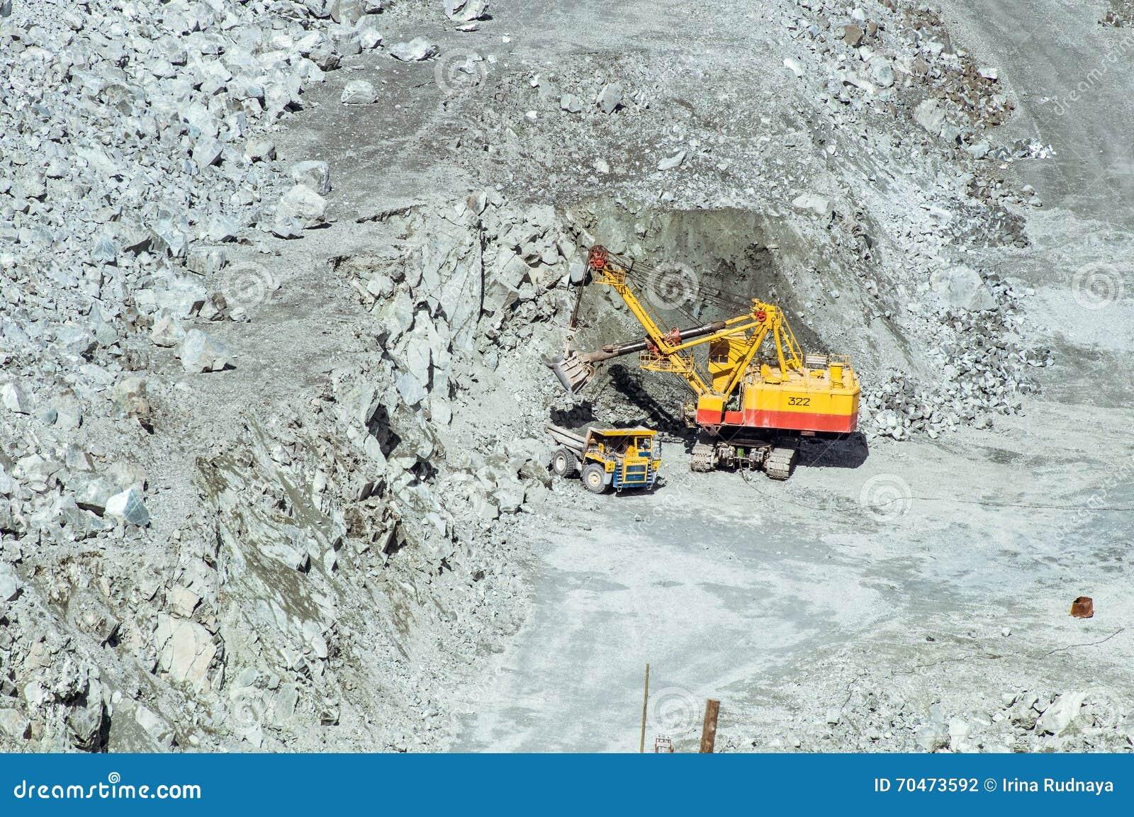 Asbestos Mining In Us : Quarry mining of asbestos urals russia editorial