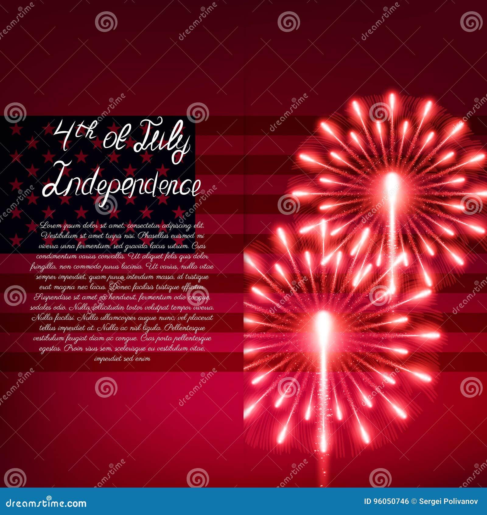 Quart de juillet Carte de voeux de Jour de la Déclaration d Indépendance