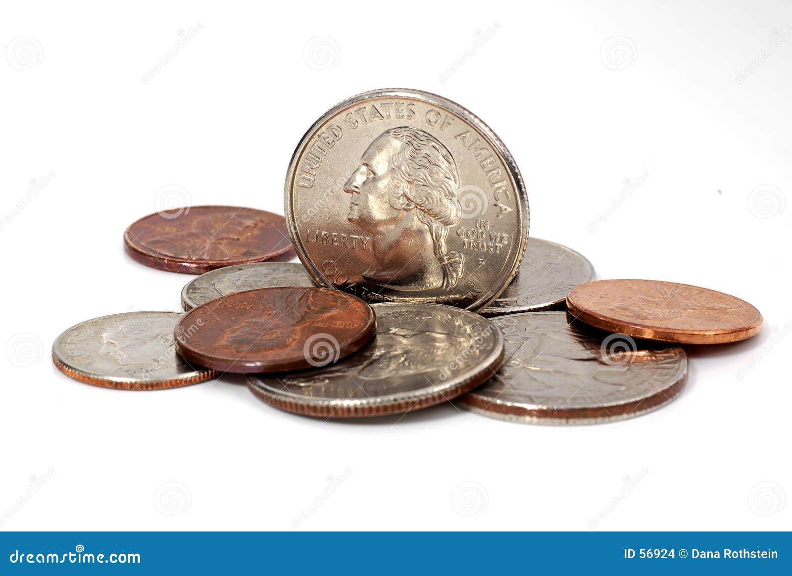 Download Quart sur le bord photo stock. Image du finances, penny - 56924