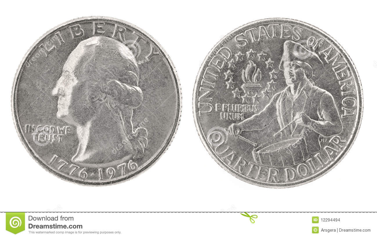 Quarter Dollar 1776 1976 Stock Images Image 12294494