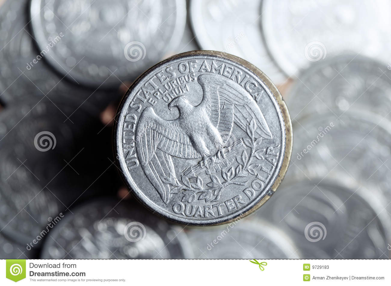Old Quarter Dollar Coins http://www.dreamstime.com/stock-photos-quarter-dollar-image9729183