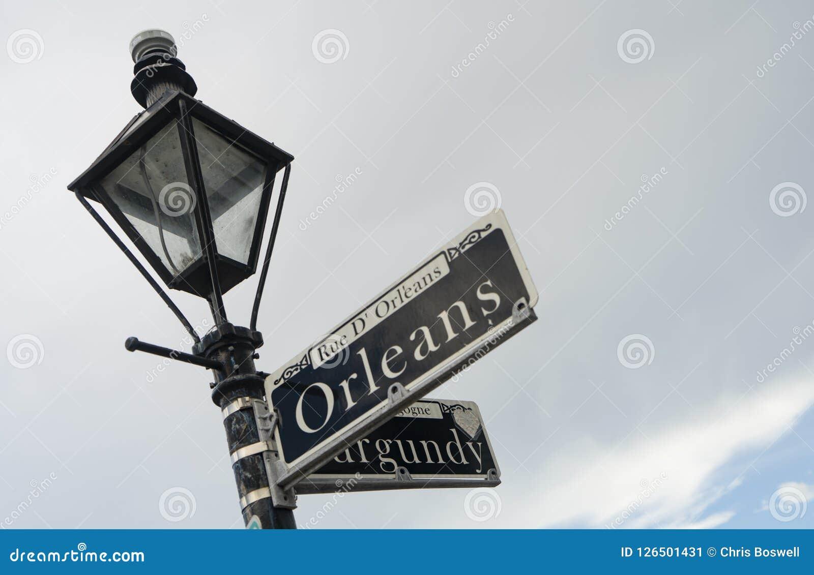 Quartier français du centre célèbre Louisiane de rue d Orléans