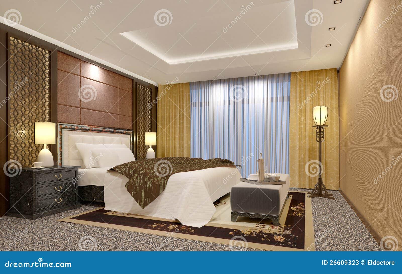 Quarto Chique Do Hotel De Luxo Fotos de Stock Imagem