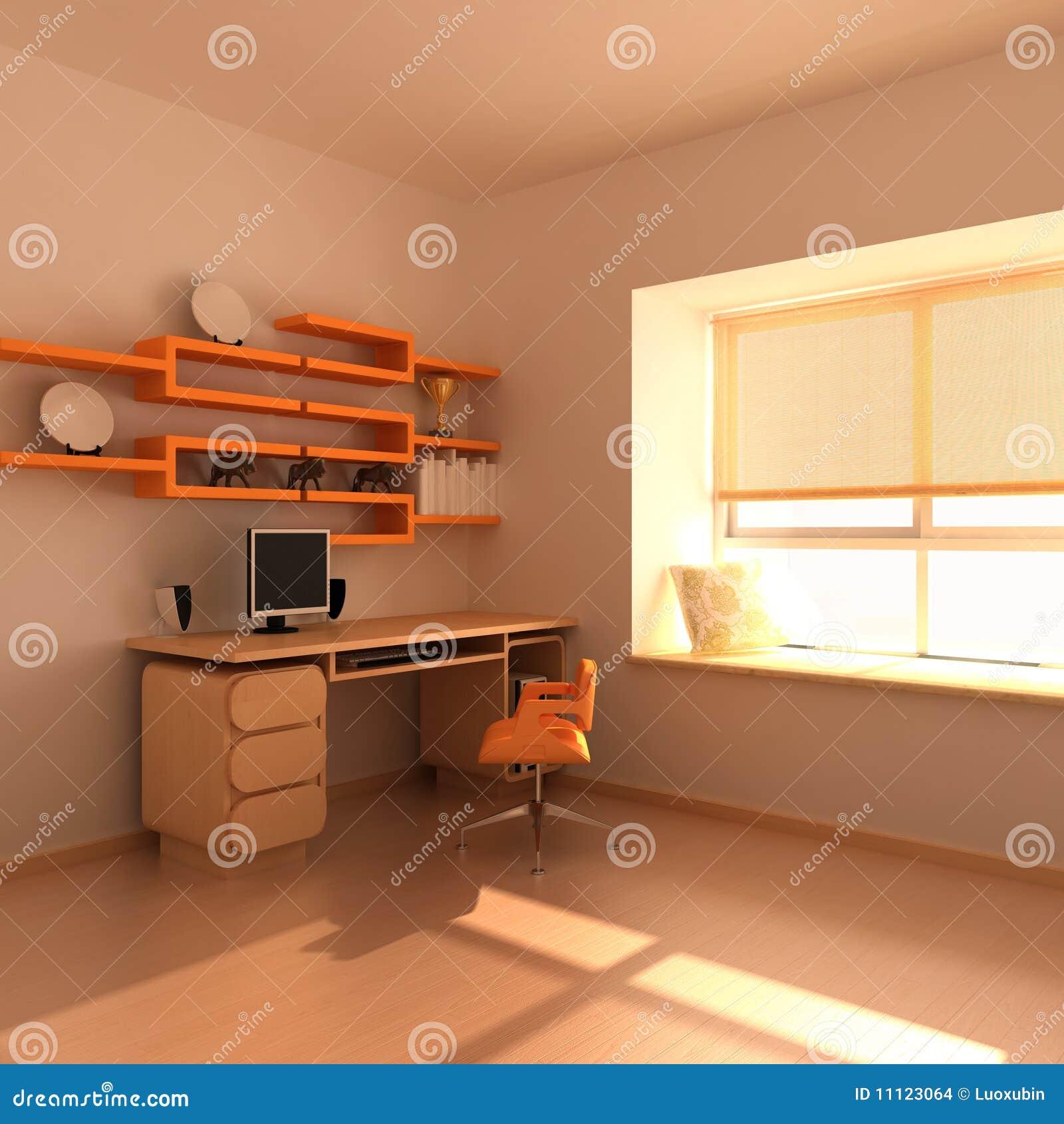 Quarto De Estudo Moderno Imagens de Stock Imagem 11123064 ~ Mesa De Estudo Para Quarto Moderno