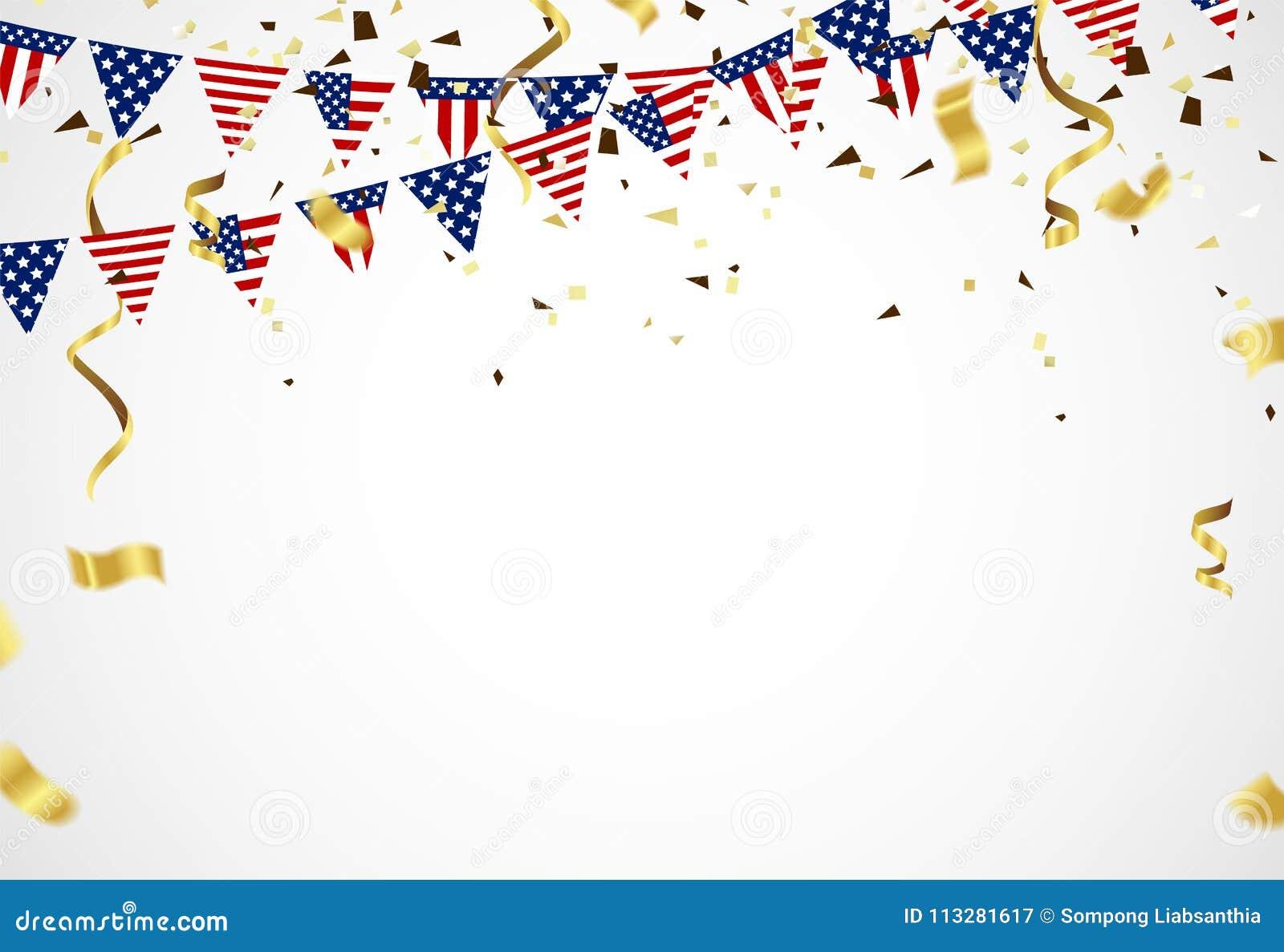 Quarto de julho 4o da bandeira do feriado de julho Dia da Independência dos EUA