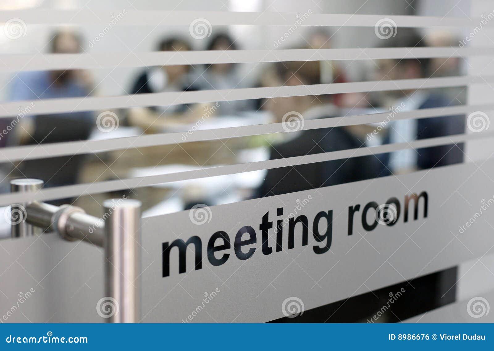 Quarto de reunião no uso
