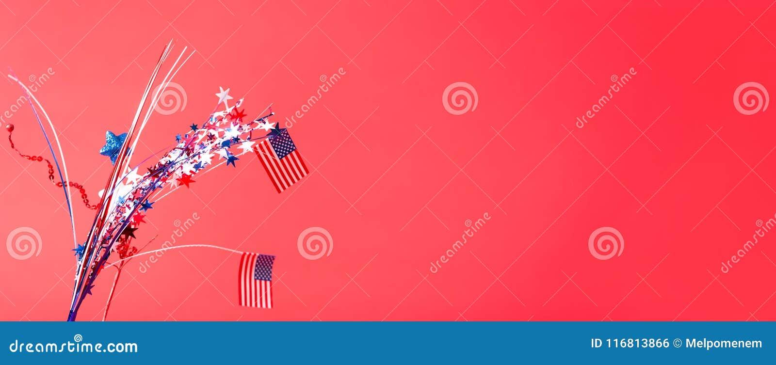 Quarto delle decorazioni e delle bandiere americane di luglio