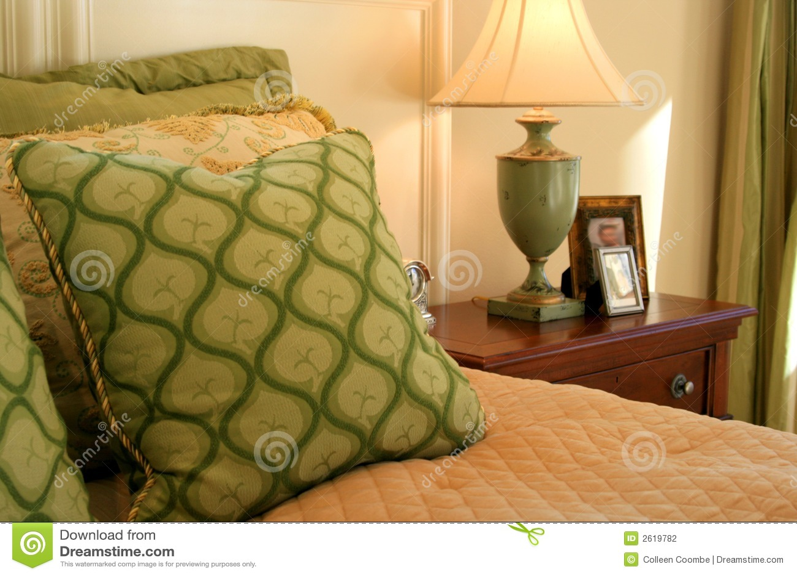 Quarto, descansos, lâmpada, tabela