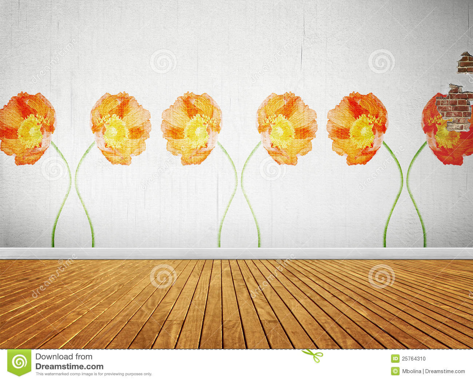Quarto Com Papel De Parede Vintage ~ Quarto Do Vintage Com Papel De Parede Floral Foto de Stock  Imagem