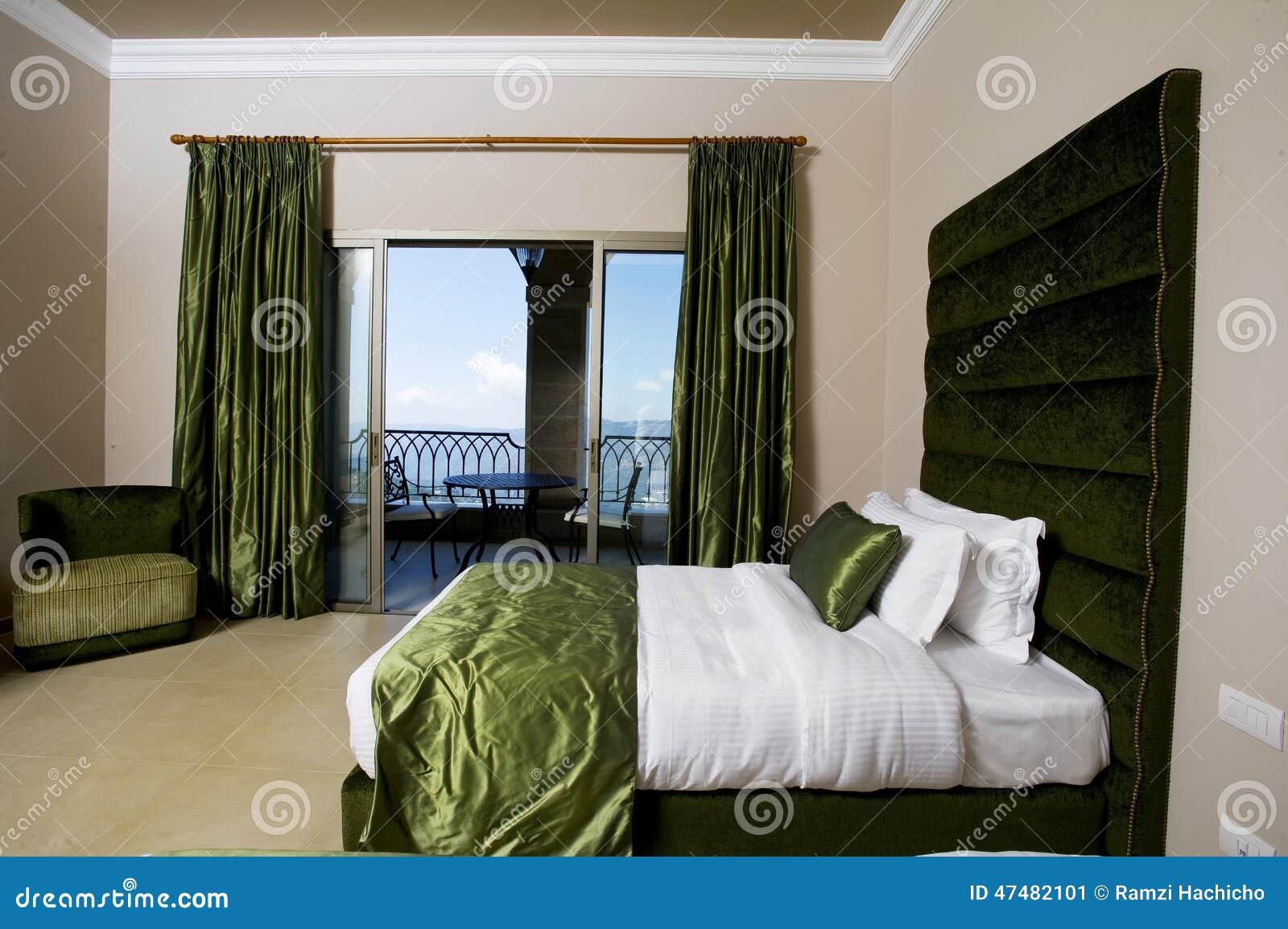 Quarto Luxuoso Com Balcões, Quarto Do Hotel Do Hotel De