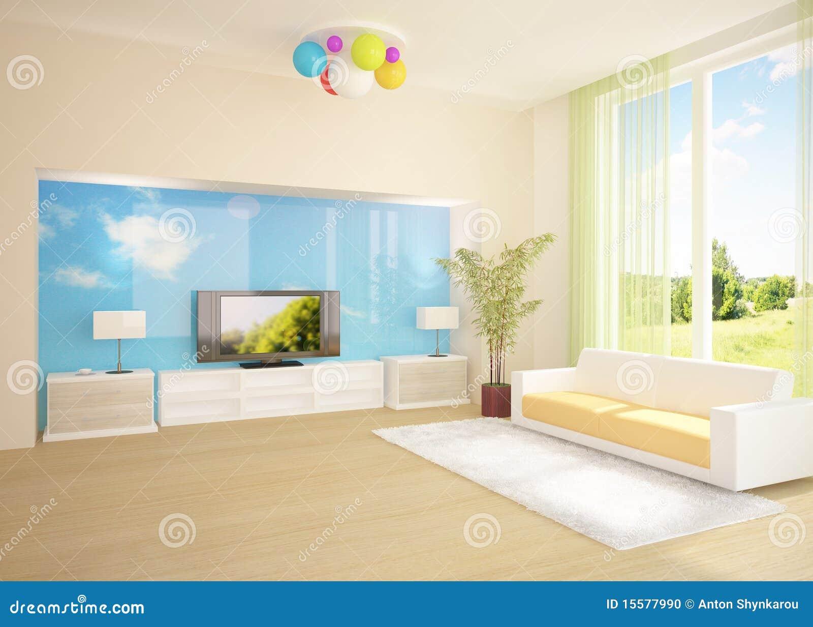 Quarto Moderno Colorido Foto de Stock - Imagem: 15577990